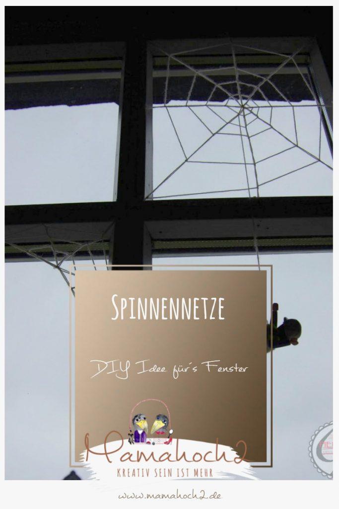 Spinnennetze für das Fenster – DIY Idee