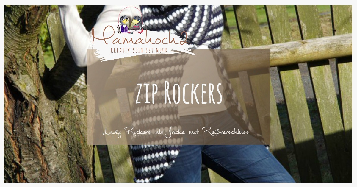 zip rockers der lady rockers wird zum coolen cardigan mamahoch2. Black Bedroom Furniture Sets. Home Design Ideas