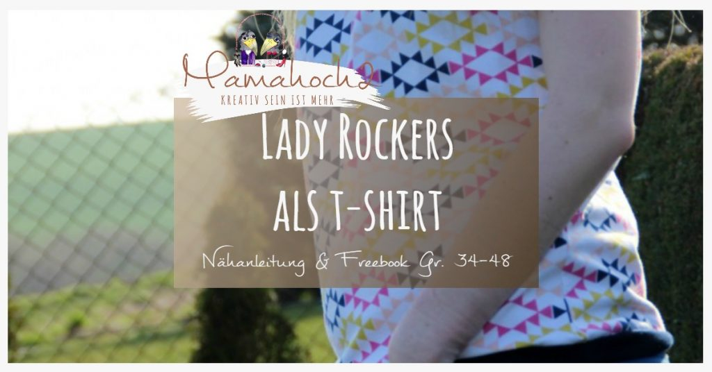 lady rockers t shirt nähanleitung freebook