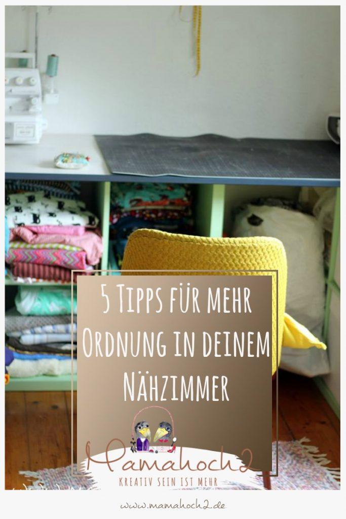 5 Tipps für mehr Ordnung in deinem Nähzimmer