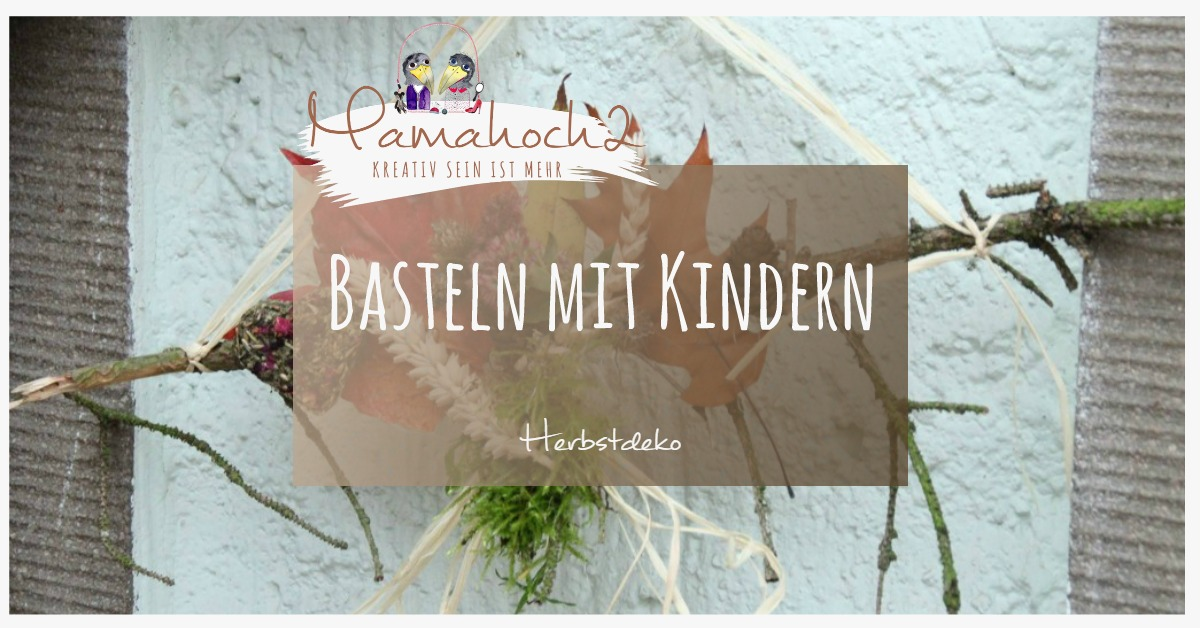 mit kindern basteln diy herbstdeko aus naturmaterialien. Black Bedroom Furniture Sets. Home Design Ideas