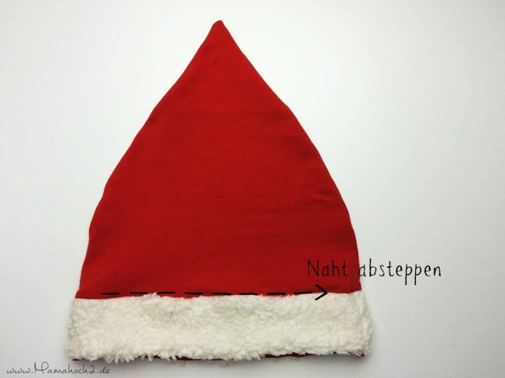 Mamahoch2 Weihnachten Mütze Tutorial 10