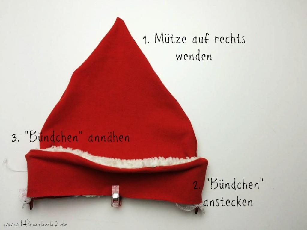 Mamahoch2 Weihnachten Mütze Tutorial 9