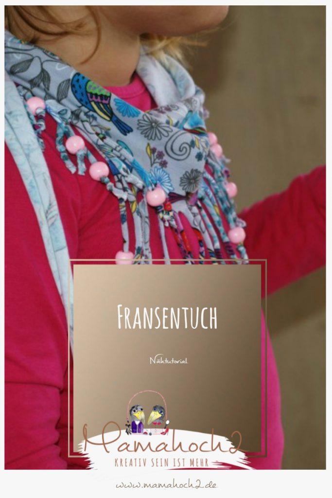 Nähanleitung für ein Fransentuch mit Perlen