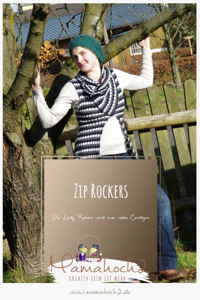Zip Rockers – Nähanleitung für einen coolen Cardigan aus unserem Mamahoch2 Lady Rockers