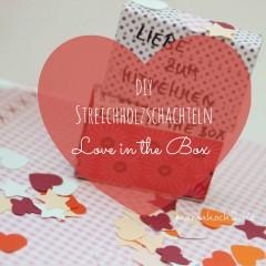 DIY Streichholzschachteln: Liebe zum Mitnehmen – Love in the Box