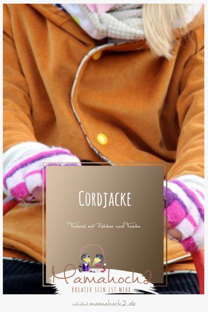 Tutorial für eine Cordjacke mit Tasche und Patches als Blickfang