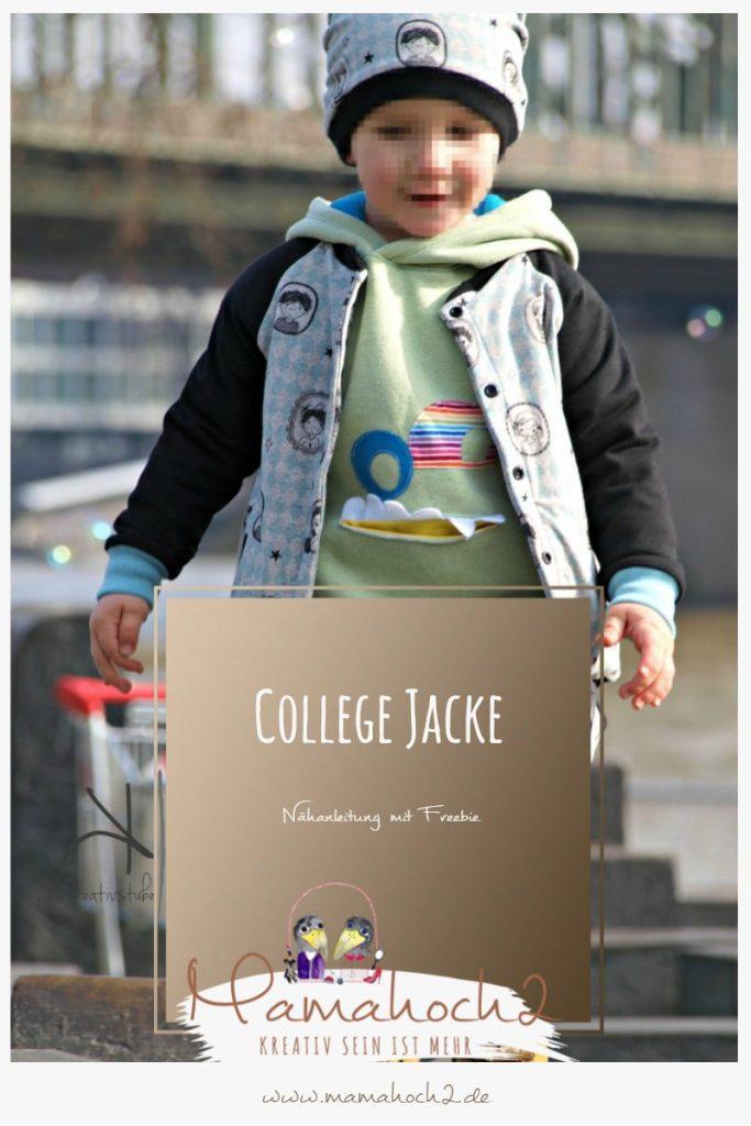 Coole Jacke für Kids im College Style – Nähanleitung mit Freebie