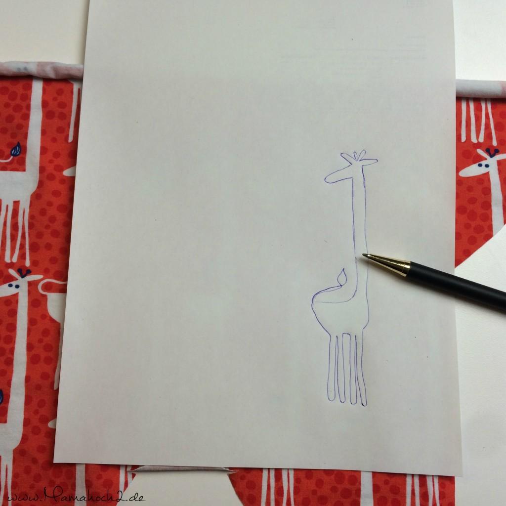 Giraffe Bündchen Applizieren 1