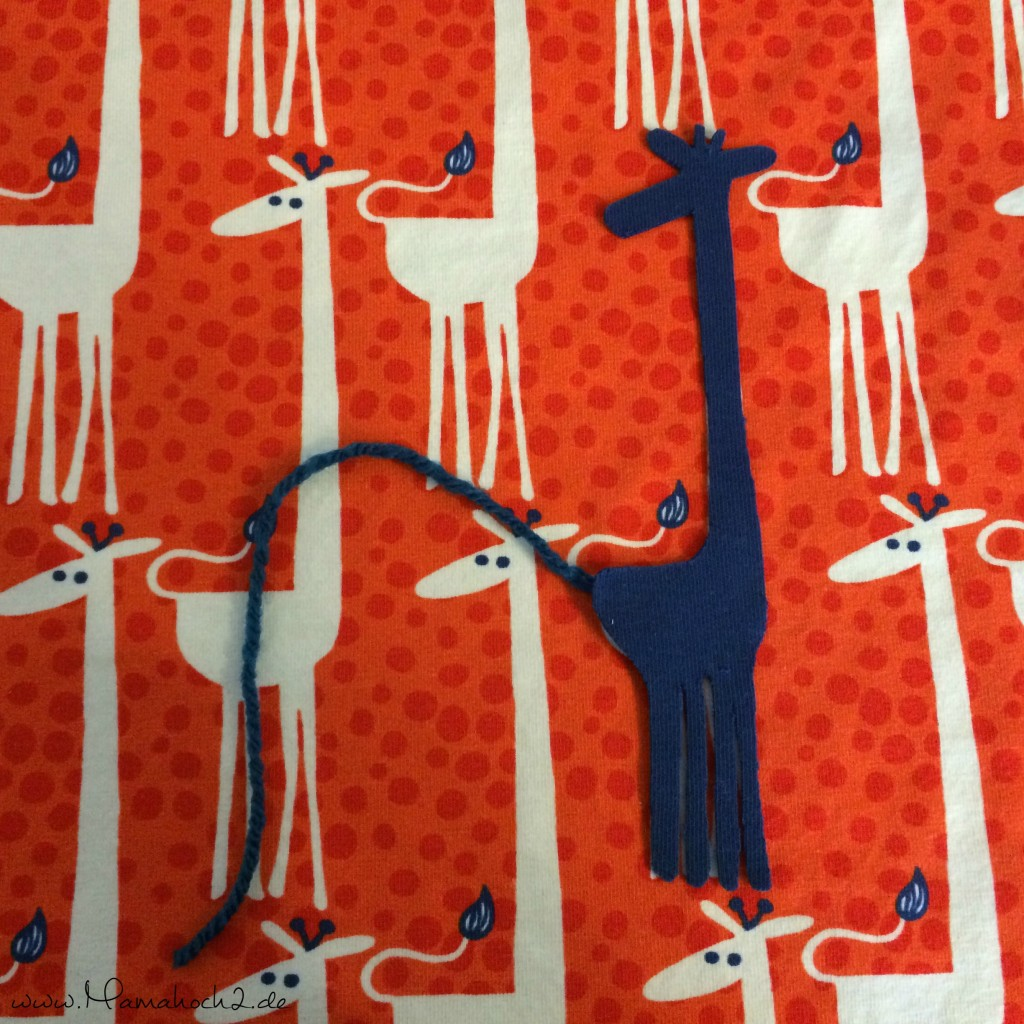 Giraffe Bündchen Applizieren 6