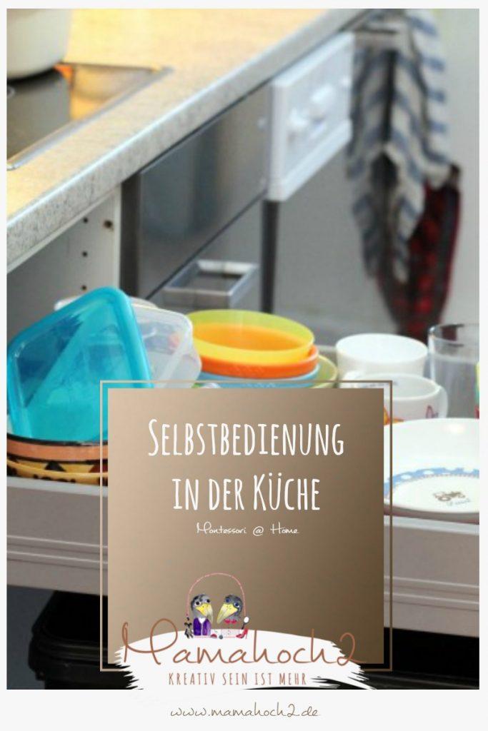 Montessori @ Home Selbstbedienungsschublade in der Küche