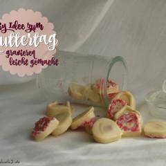 Glas gravieren und Schokoherzen, eine DiY Idee zum Muttertag