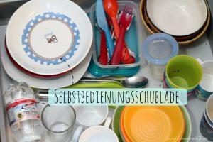 Montessori @ home: Selbstbedienungsschublade in der Küche