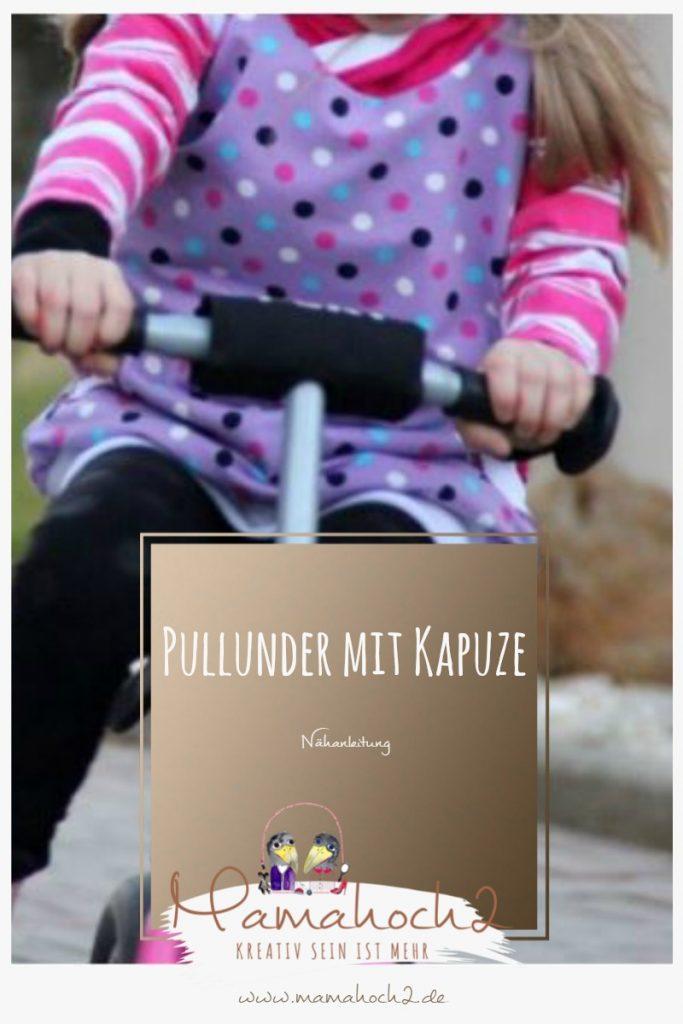 Mamahoch2 Nähanleitung für einen Pullunder mit Kapuze