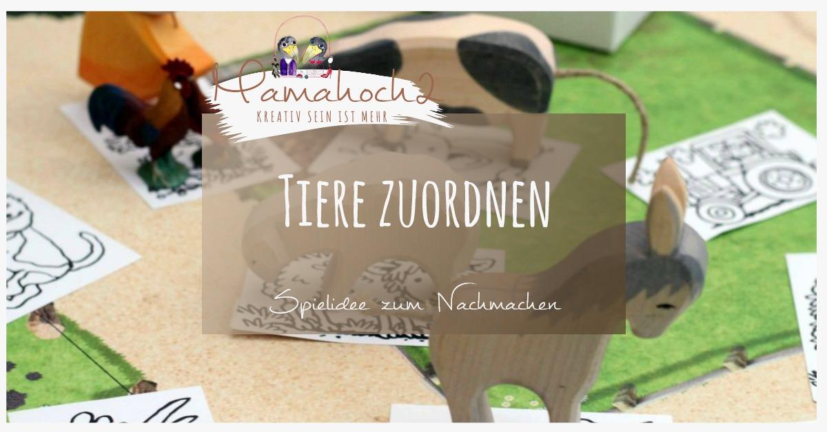 spielidee bilder tieren zuordnen tiernamen lernen mamahoch2. Black Bedroom Furniture Sets. Home Design Ideas