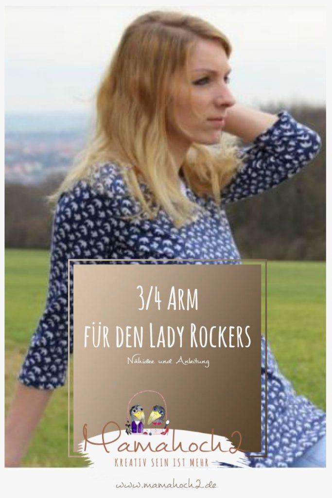 Nähidee für deinen Lady Rockers dreiviertel Armlänge