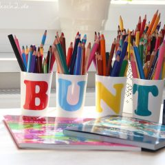 DIY Idee Stiftehalter aus Zahnputzbechern