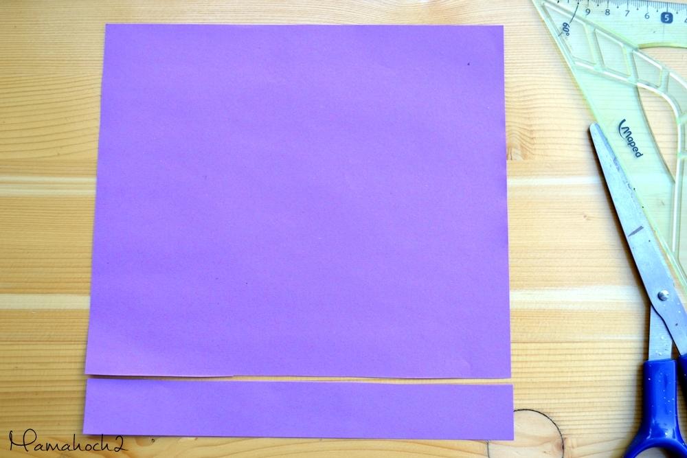 1. Papier abschneiden