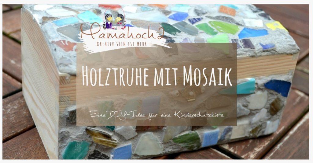 Produktbild Kinderschatzkiste Holztruhe Mosaik