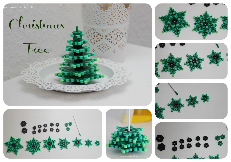 weihnachtsbaum tannenbaum aus buegelperlen diy mamahoch2. Black Bedroom Furniture Sets. Home Design Ideas