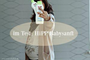 Verwöhnprogramm für den Babybauch: HiPP Babysanft Gute Nacht Bad und HiPP Babysanft Pflegemilch