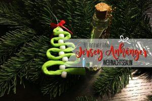 Weihnachtliche Anhänger aus Jersey selber machen