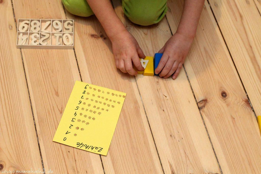 zahlen lernen und rechnen lernen montessori spielidee vorschüler (2)