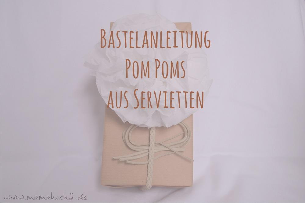DIY Anleitung Pom Poms aus Servietten 20
