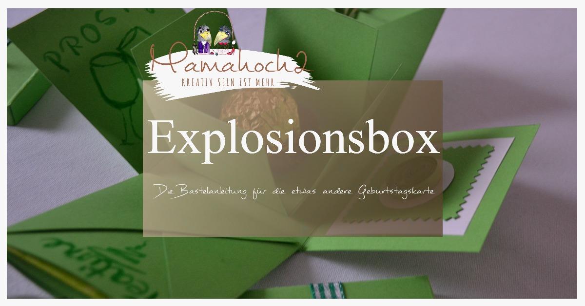 Diy Bastelanleitung Für Eine Explosionsbox Mamahoch2