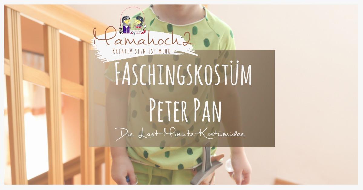 Peter Pan Kostüm diy selbermachen kostüm last minute faschingskostüm anleitung