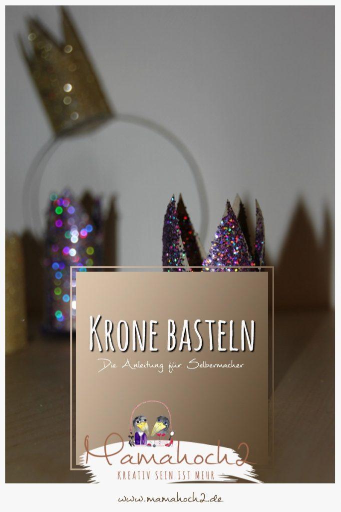 Pinterest Krone DiY Basteln Fasching