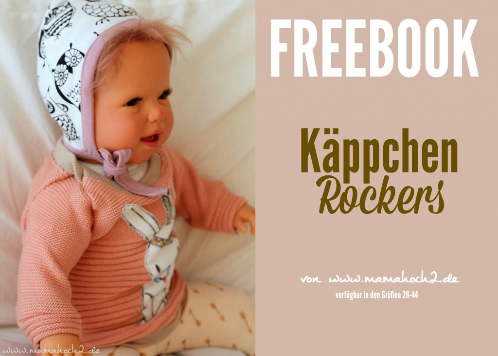 käppchen rockers kostenfreies Schnittmuster Babymütze Mamahoch2 freebook