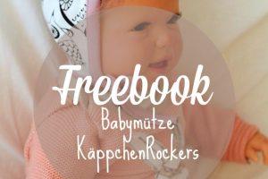 kostenfreie Nähanleitung Babymütze zum Binden: Freebook Käppchen Rockers