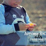 Tierische Pullover nähen, Autumn Rockers als Teddy und Drache