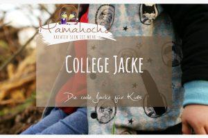Nähanleitung College Jacke für Kids