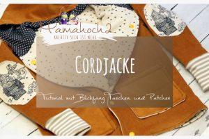 Cordjacke mit Taschen und Patches