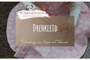 Nähanleitung Drehkleid mit Tellerrock Winterkleid