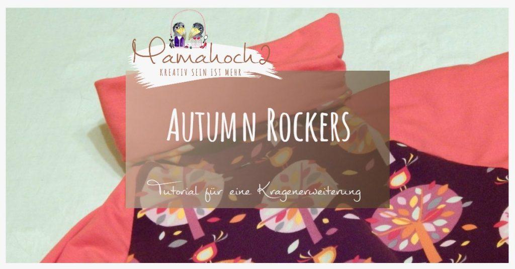 Nähanleitung Freebook kostenloses Schnittmuster Autumn Rockers Kragenerweiterung