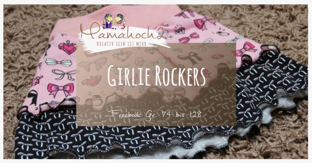 Nähanleitung Freebook kostenloses Schnittmuster Girlie Rockers