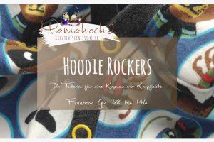 Nähanleitung Freebook kostenloses Schnittmuster Hoodie Rockers mit Knopfleiste