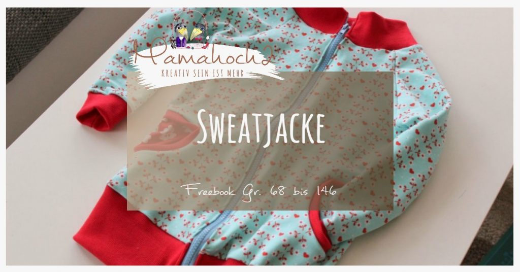 Nähanleitung Freebook kostenloses Schnittmuster Sweatjacke Kids