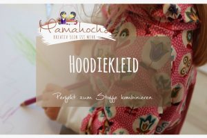 Nähanleitung Hoodiekleid Materialmix Autumn Rockers