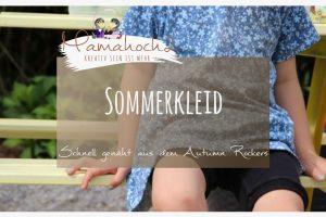 Nähanleitung Sommerkleid aus Autumn Rockers Freebook