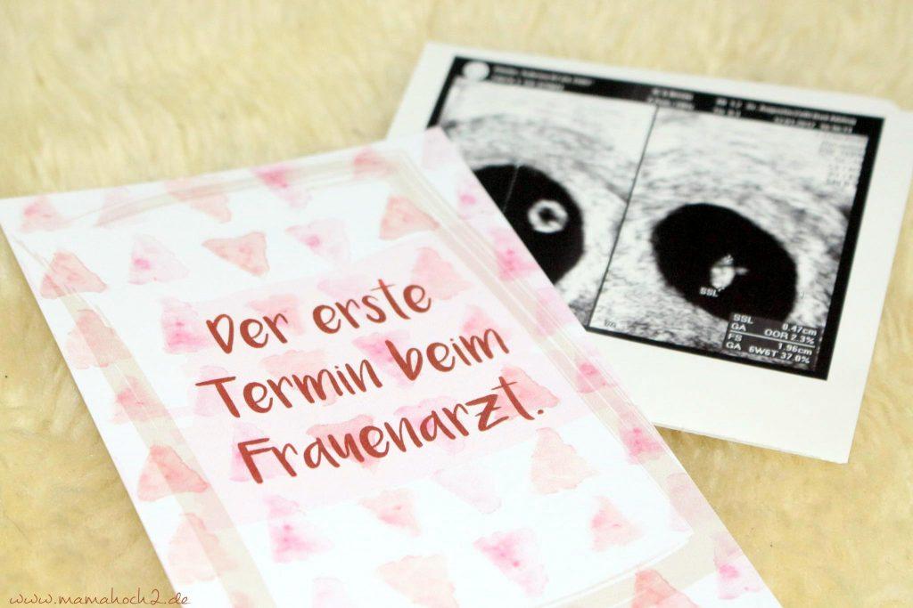 erster frauenarzttermin schwangerschaft meilensteinkarten