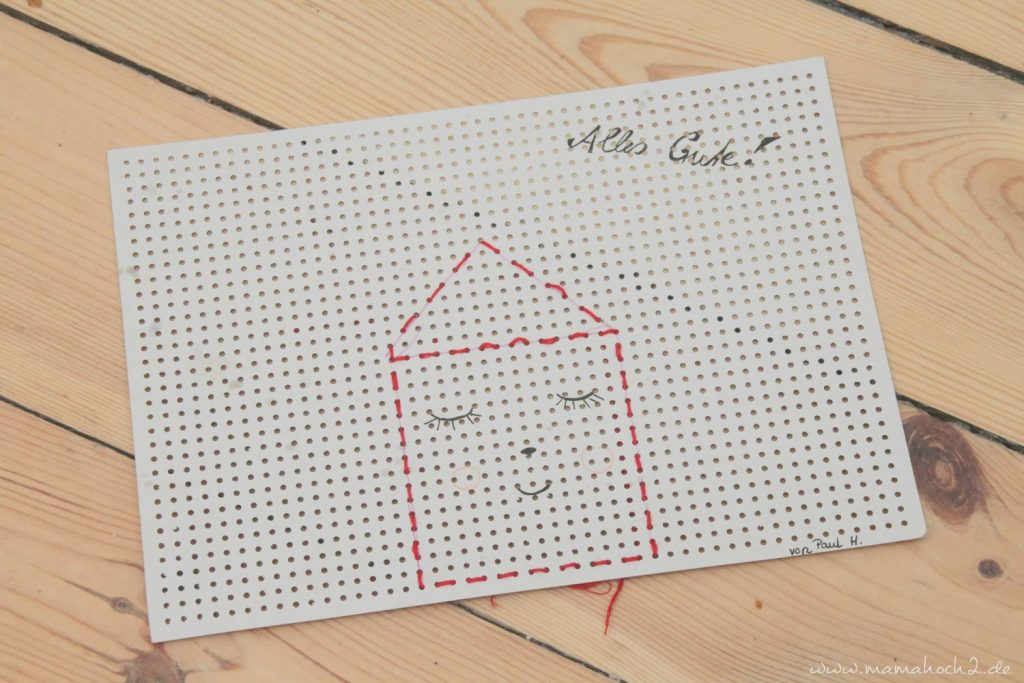 sticken für kinder mit stickkarton sticktwist selfmade deko (2)