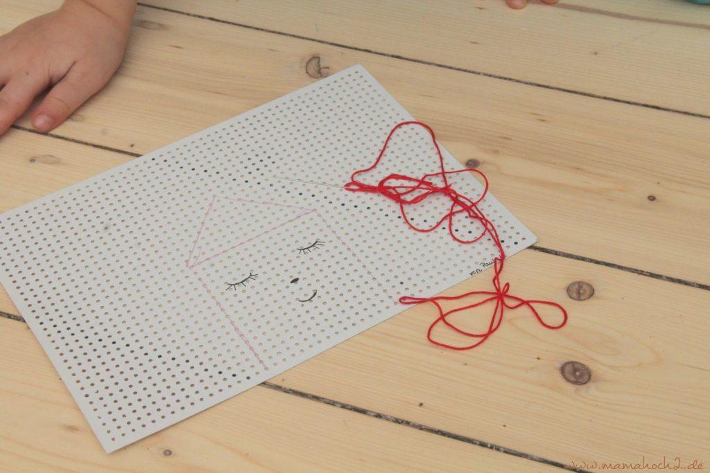 sticken für kinder mit stickkarton sticktwist selfmade deko (6)
