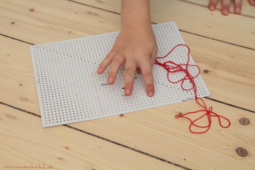 sticken für kinder mit stickkarton sticktwist selfmade deko (7)