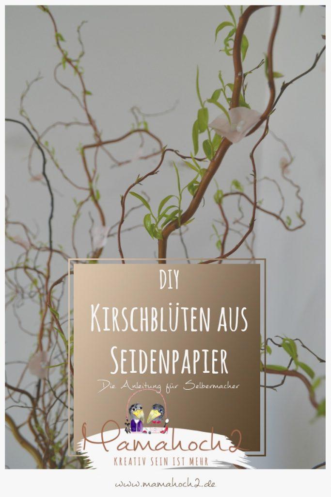 Kirschblüten aus Seidenpapier – Bastelanleitung 15