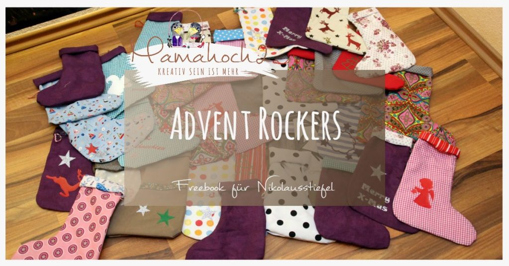 Nähanleitung Freebook Advent Rockers Nikolausstiefel