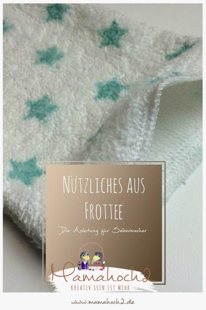 Nähen Waschlappen Frottee Mamahoch2 Anleitung
